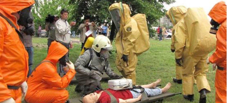Un stage pratique à la réponse à apporter de toute urgence après une attaque chimique.