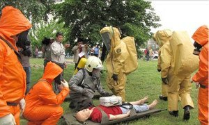 Training course on emergency response to chemical weapons.