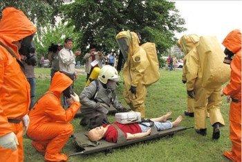دورة تدريبية حول الاستجابة الطارئة للأسلحة الكيميائية. المصدر: منظمة حظر الأسلحة الكيميائية
