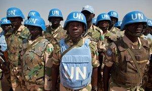 Des Casques bleus du contingent nigérien de la MINUAD.