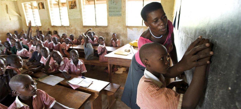 Kisojo Model Primary School in Kyenjojo District in Uganda.