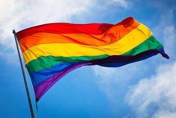 Le drapeau arc-en-ciel, hissé dans le quartier de Castro, à San Francisco.
