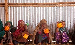 Somali refugee children at the Buramino camp in Ethiopia.