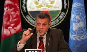 Ján Kubiš, the Special Representative of the Secretary-General for Afghanistan.