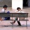 Dos pacientes del Instituto del Comportamiento Humano y Ciencias Relacionadas, en Delhi, India.