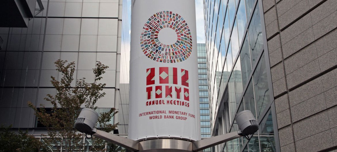 The IMF/World Bank Group Annual Meetings are taking place in Tokyo Japan.