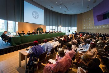 ICJ at the opening of the public hearings in the case concerning the frontier dispute between Burkina Faso and Niger.