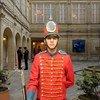 哥伦比亚首都波哥大总统府内的仪仗队士兵。