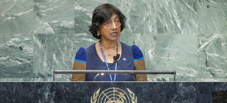 La Haut Commissaire des Nations Unies aux droits de l'homme, Navi Pillay. ONU Photo/Rick Bajornas