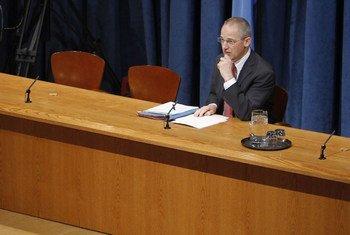 Le porte-parole du Secrétaire général de l'ONU, Martin Nesirky.