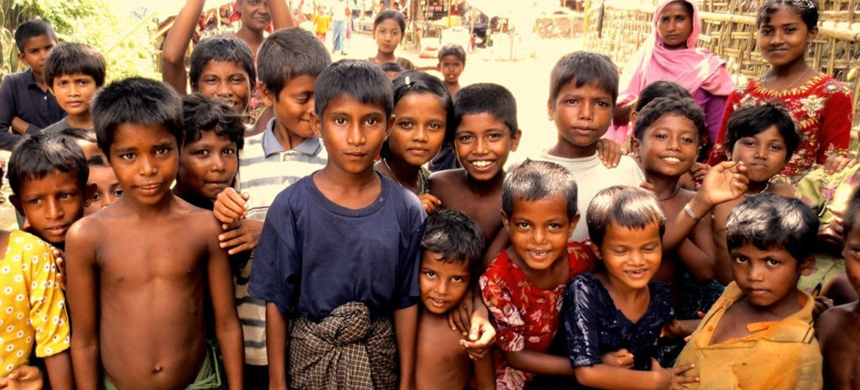 Children in Thea Chaung IDP Camp, Rakhine State, Myanmar.