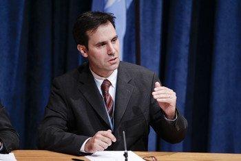 Le Président du Groupe de travail des Nations Unies sur les disparitions forcées ou involontaires, Olivier de Frouville.