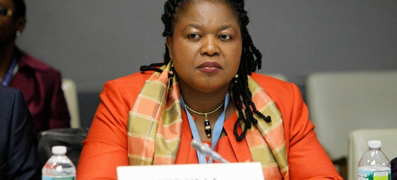 La relatora de la ONU sobre trata de personas, Joy Ngozi Ezeilo  Foto: ONU/Paulo Filgueiras