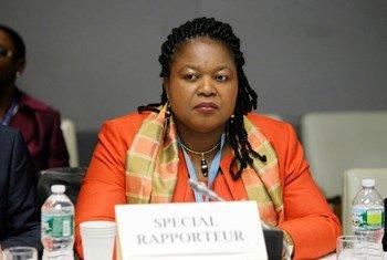 La Rapporteuse spéciale des Nations Unies sur la traite des êtres humains, en particulier des femmes et des enfants, Joy Ngozi Ezeilo.