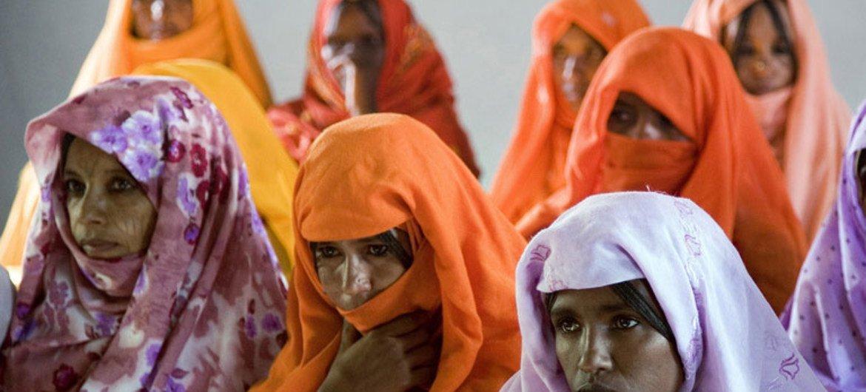 Un groupe de femmes assiste à une séance de sensibilisation au risque du VIH et du sida dans la province d'Anseba, en Érythrée (archives)