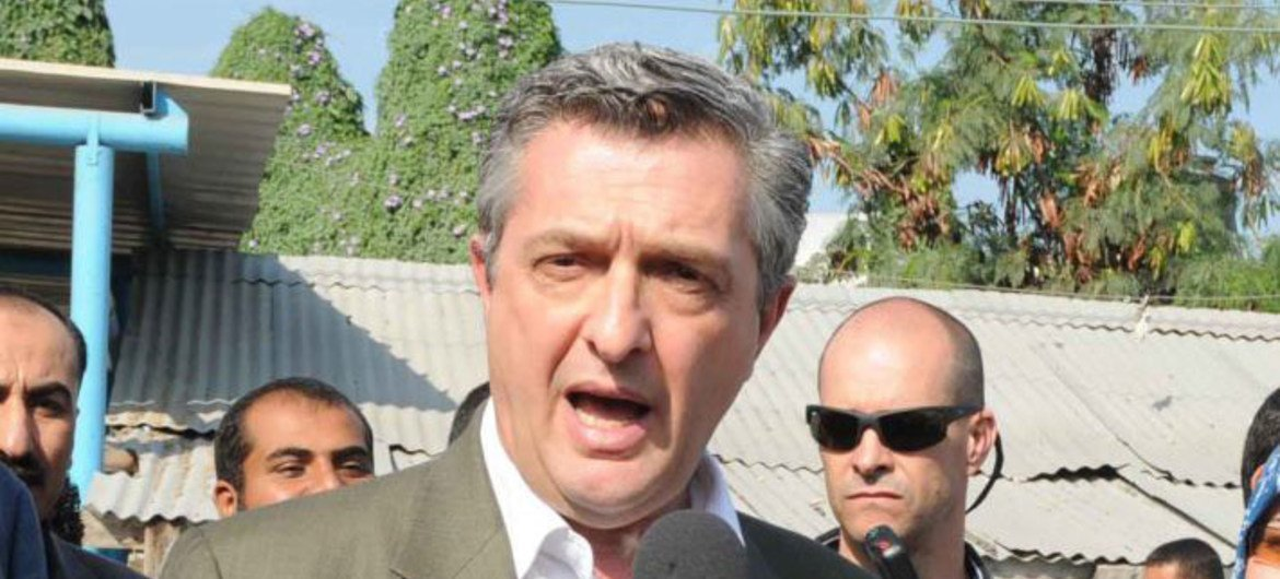 Commissioner-General of the UN Relief and Works Agency for Palestine Refugees in the Near East (UNRWA), Filippo Grandi.