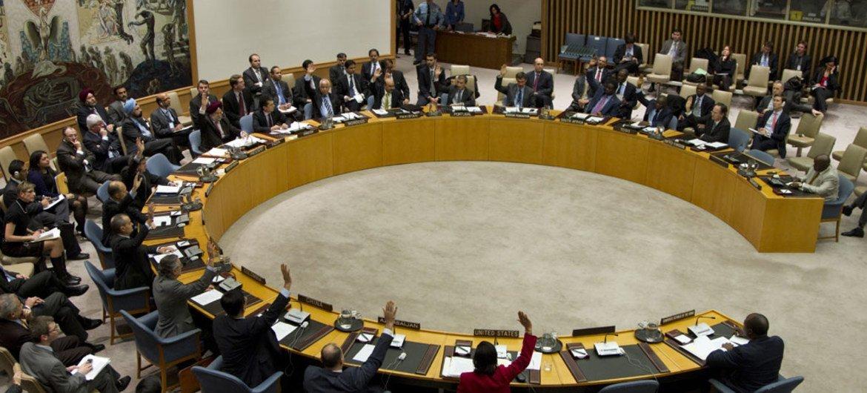 Le Conseil de sécurité des Nations Unies en séance publique.