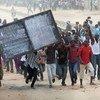 Des résidents de Bunia, en RDC, manifestent contre la prise de Goma par les rebelles du M23.