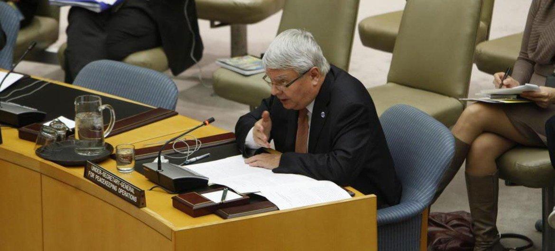 Le Secrétaire général adjoint aux opérations de maintien de la paix, Hervé Ladsous.