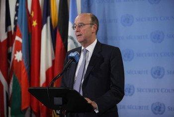 Le Coordonnateur spécial des Nations Unies pour le Liban, Derek Plumbly. Photo ONU/Ryan Brown (Photo d'archive)