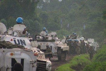 Des Casques bleus des Nations Unies en République démocratique du Congo.