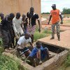Children who have joined combat training camps in and around Mopti in central Mali undergoing training.