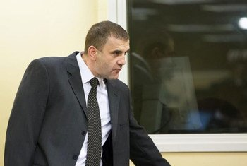 Milan Lukic enters courtroom of the International Criminal Tribunal for the former Yugoslavia (ICTY) which confirmed his life imprisonment.