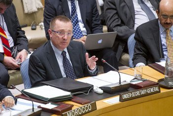 Under-Secretary-General for Political Affairs Jeffrey Feltman presents the Secretary-General's report on Mali to the Security Council.
