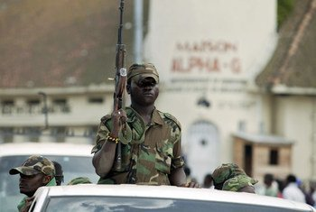 Members of the rebel group known as M23 withdrawing from the North Kivu provincial capital of Goma, Democratic Republic of the Congo (December 2012).