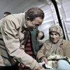Secretary-General Ban Ki-moon visits the Islahiye camp in Turkey.