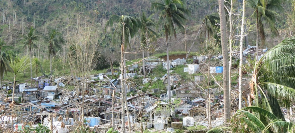 Aftermath of the devastation caused by Typhoon Bopha.