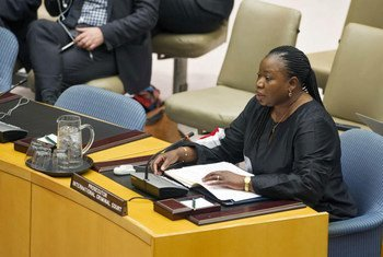 Chief Prosecutor of the International Criminal Court (ICC) Fatou Bensouda briefing the Security Council.