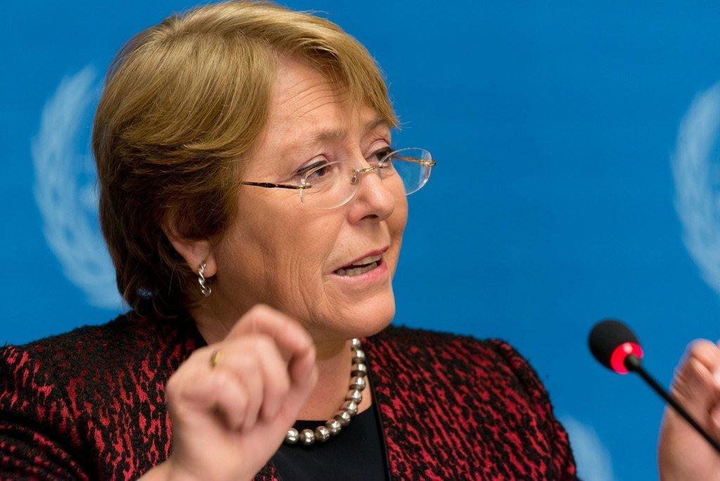 La Haute-Commissaire des Nations Unies aux droits de l'homme, Michelle Bachelet