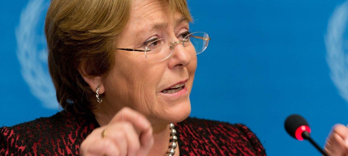"""Bachelet destaca que na Nicarágua existe uma """"falta de vontade do Estado"""", para garantir que haja a prestação de contas e a consolidação da impunidade pelas violações de direitos humanos."""