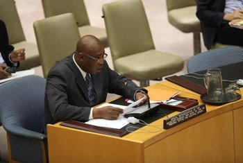 Special Representative and head of the UN Regional Office for Central Africa (UNOCA), Abou Moussa, briefs the Security Council.
