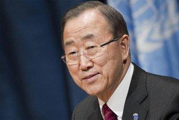 Le Secrétaire général de l'ONU, Ban Ki-moon, lors de sa conférence de presse de fin d'année.