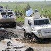 UNDOF peacekeepers patrol Golan Heights.