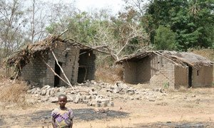 Ruined and abandoned house in the northern Central African Republic.