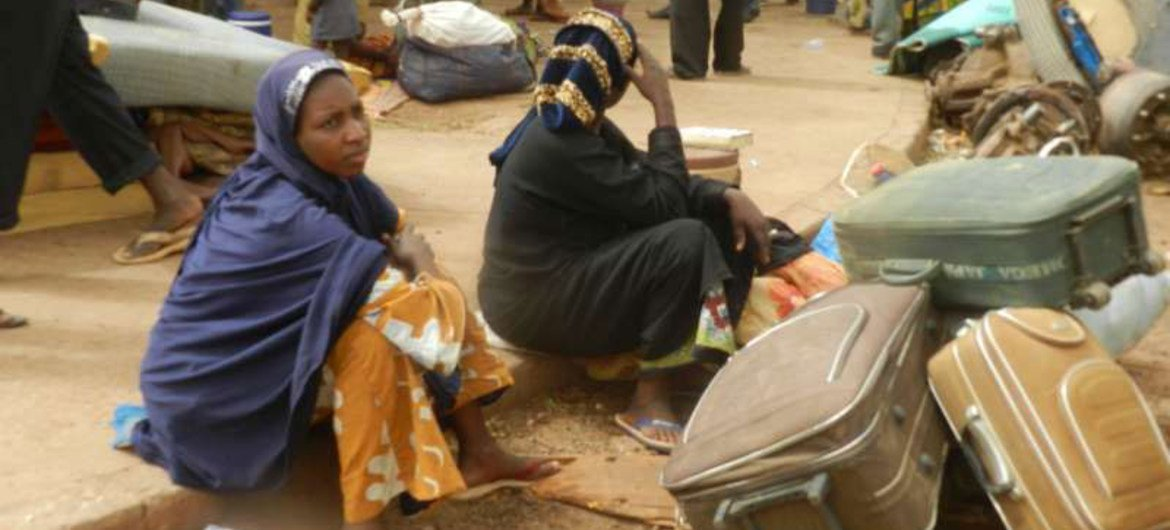 These Malian women fled fighting in the north of the country and found shelter in Sevare town.