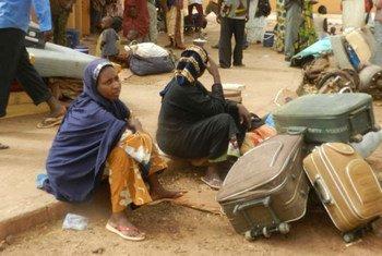 Trois Maliennes qui avaient fui les combats dans le nord du pays.
