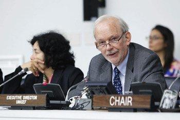 Le Directeur exécutif du Fonds des Nations Unies pour l'enfance (UNICEF), Anthony Lake.