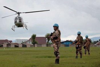 Un hélicoptère civil  de la MONUSCO