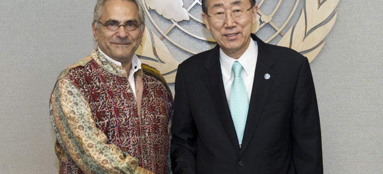 L'ancien Président du Timor-Leste, José Ramos-Horta (à gauche), avec le Secrétaire général de l'ONU, Ban Ki-moon.
