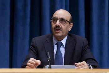 Le Président du Conseil de sécurité pour le mois de janvier 2013, Massod Khan du Pakistan. Photo ONU/JC McIlwaine