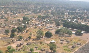 Aerial view of Ndélé in the Central African Republic.