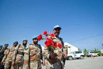 Members of Pakistan Formed Police Unit prepare to return home after serving with UNMIT. Pakistan was among the countries contributing the largest numbers of police since the peacekeeping mission was established in 2006. (November 2012)