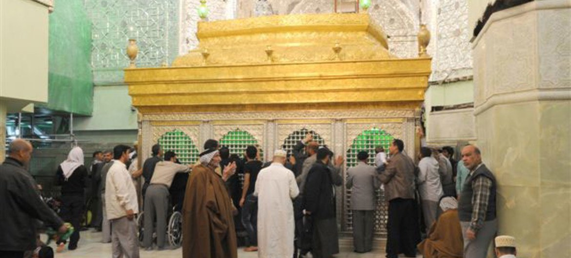 The Holy Shrine of Imam Hussein in Karbala.