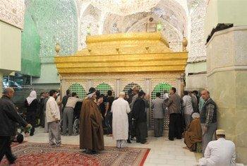Le mausolée d'Hussein, à Kerbala.