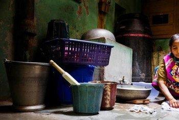Trabajadora doméstica en la India