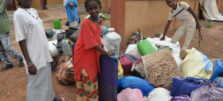 Refugiados malienses<br>en Burkina Faso